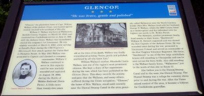 Glencoe Civil War Trails Marker image. Click for full size.