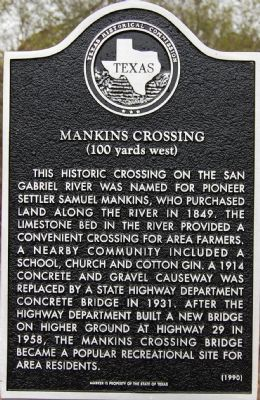 Mankins Crossing Marker image. Click for full size.