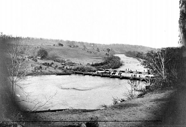 Germanna Ford Crossing Site from a Civil War Photo image. Click for full size.