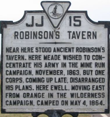 Robinson's Tavern Marker image. Click for full size.