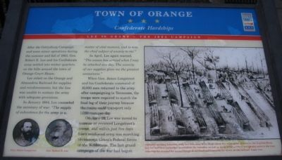 Town of Orange Marker image. Click for full size.