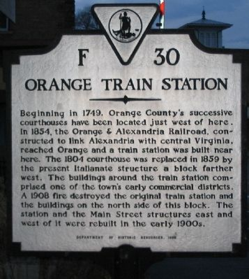 Orange Train Station Marker image. Click for full size.