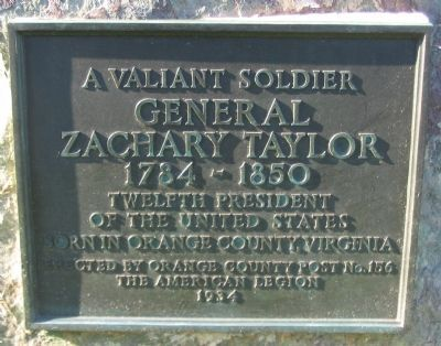 General Zachary Taylor Marker image. Click for full size.
