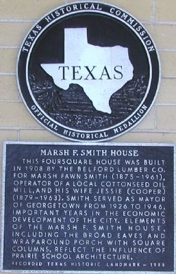 Marsh F. Smith House Marker image. Click for full size.