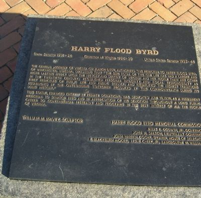 Harry Flood Byrd Marker image. Click for full size.