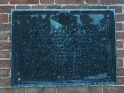 Colonel John Haslet Marker image. Click for full size.