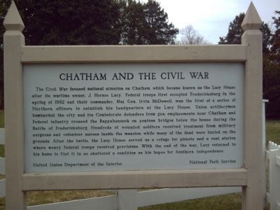 Chatham and the Civil War Marker image. Click for full size.