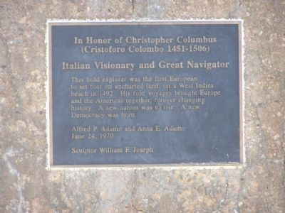 In Honor of Christopher Columbus Marker image. Click for full size.