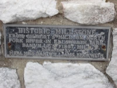 Historic Millstone Marker image. Click for full size.
