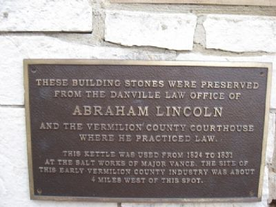 Abraham Lincoln's Law Office Building Stones Marker image. Click for full size.
