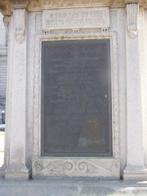 Colorado Soldier&#39;s Monument Marker <i>(West Side) image. Click for full size.