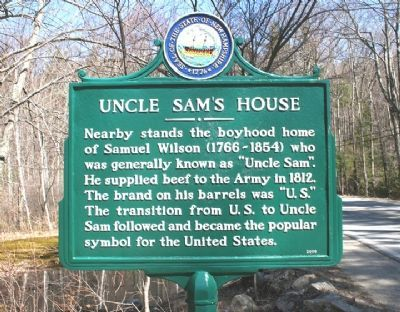 Uncle Sam's House Marker image. Click for full size.
