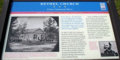 Bethel Church Civil War Trails Marker image. Click for full size.