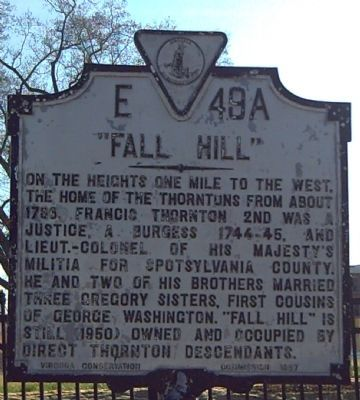 """Fall Hill"" Marker image. Click for full size."