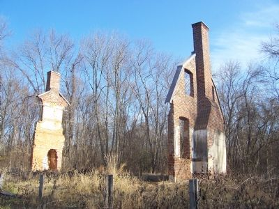 "Ruins of ""Lyles House"" at Want Water - Broad Creek Historic District image. Click for full size."