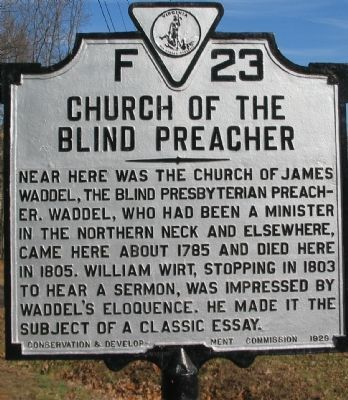 Church of the Blind Preacher Marker image. Click for full size.