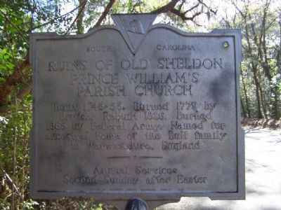 Ruins of Old Sheldon Marker image. Click for full size.