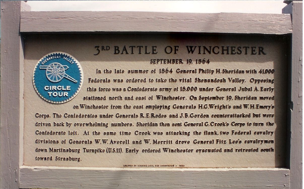 The Third Battle of Winchester Marker