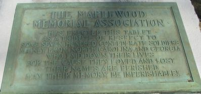 The Maplewood Memorial Association Marker image. Click for full size.