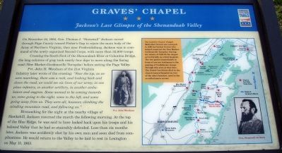 Graves' Chapel Civil War Trails Marker image. Click for full size.
