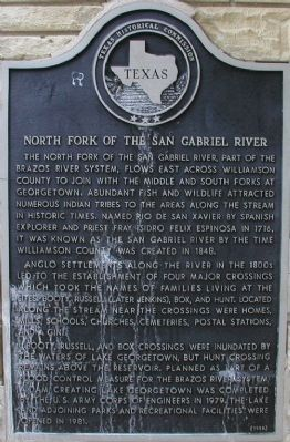 North Fork of the San Gabriel River Marker image. Click for full size.