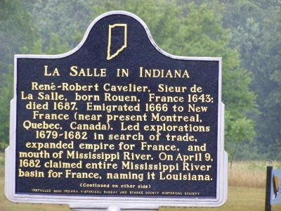 La Salle in Indiana Marker <i>(Obverse) image. Click for full size.