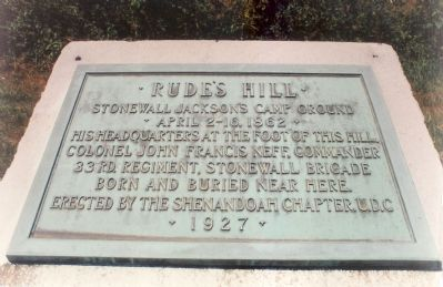 Rude's Hill Marker image. Click for full size.
