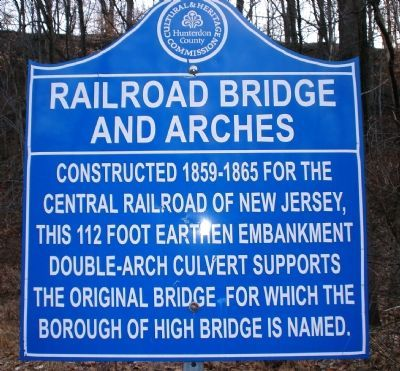 Railroad Bridge and Arches Marker image. Click for full size.