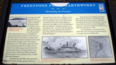 Freestone Point Earthworks Civil War Trails Marker image. Click for full size.