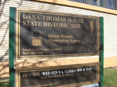 Dana Thomas House Marker image. Click for full size.