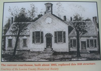 Close Up of the Drawing of the Old Courthouse image. Click for full size.