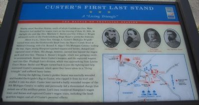 Custer's First Last Stand Marker image. Click for full size.