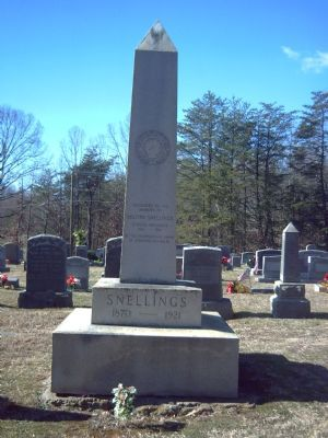 Milton Snellings Marker image. Click for full size.