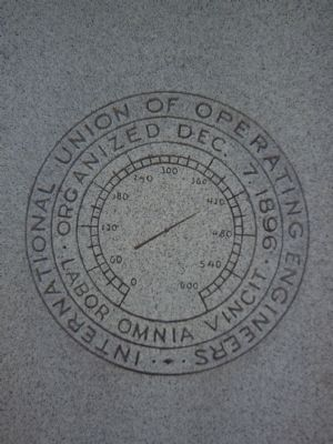 The IUOE logo on the marker image. Click for full size.