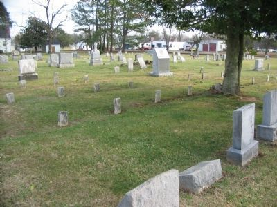 Confederate Burial Plots image. Click for full size.