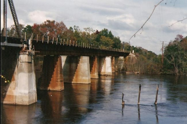 River Side View of the Altamaha River Bridge image. Click for full size.