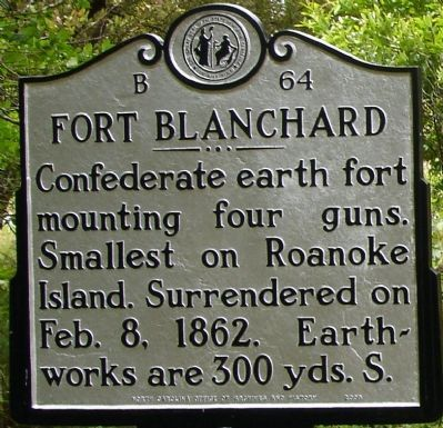 Fort Blanchard Marker image. Click for full size.