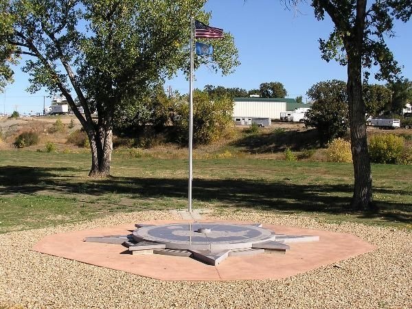 The new Geographic Center of the Nation Monument
