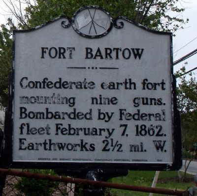 Fort Bartow Marker image. Click for full size.