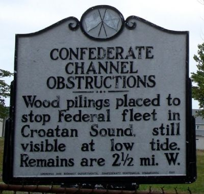 Confederate Channel Obstructions Marker image. Click for full size.
