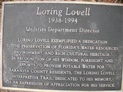 Loring Lovell Marker image. Click for full size.