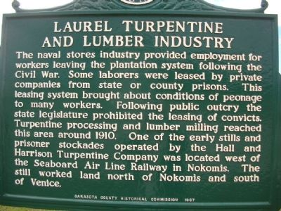 Laurel Turpentine and Lumber Industry Marker image. Click for full size.