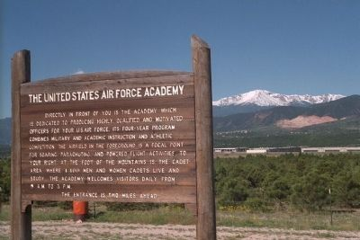 The United States Air Force Academy Marker image. Click for full size.
