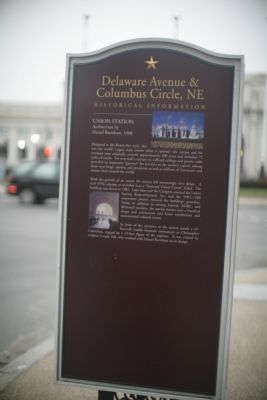 Delaware Avenue and Columbus Circle Marker image. Click for full size.