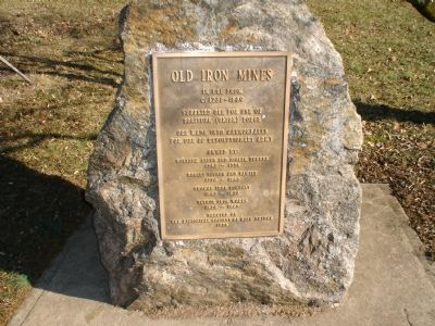 Old Iron Mines Marker image. Click for full size.