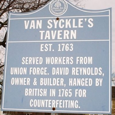Van Syckles Tavern Marker (Original) image. Click for full size.