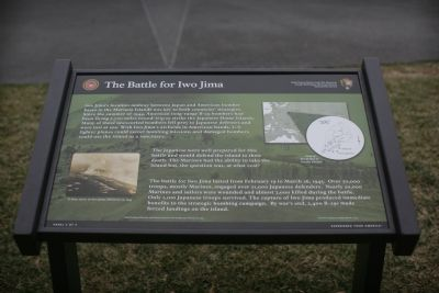 The Battle For Iwo Jima Marker image. Click for full size.
