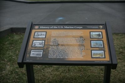History Of The U. S. Marine Corps Marker image. Click for full size.