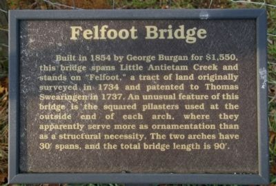 Felfoot Bridge Marker image. Click for full size.