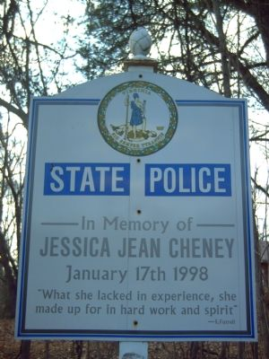 Trooper Jessica Jean Cheney Marker image. Click for full size.